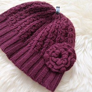 Express Knit Hat in Burgundy